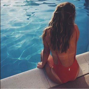 Sunny co clothing, one piece bikini